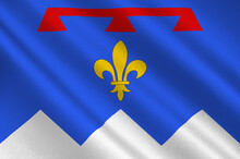 Flag Of Alpes De Haute Provence Is A Department Of France
