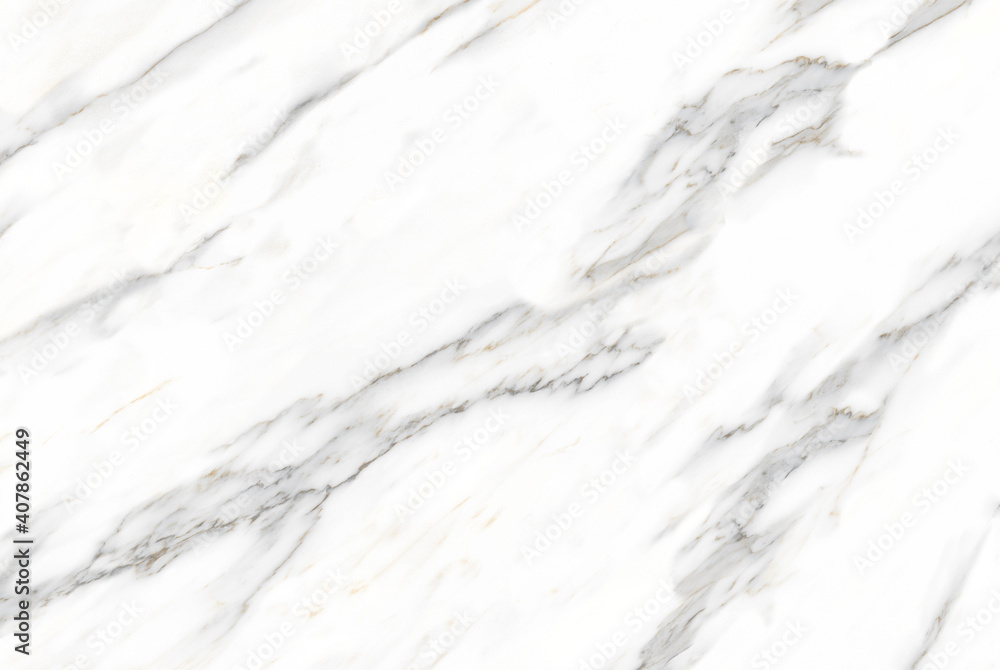 Fototapeta white color polished finish natural statuario marble design with natural veins