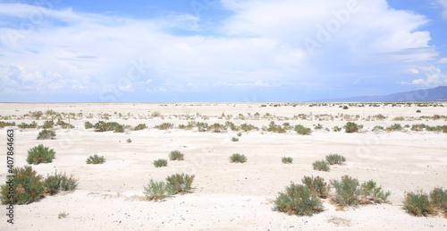 Fotografia Dry Salt Lakes near El Paso in Texas, USA