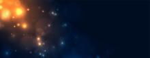 Nice Light Sparkles Glowing Bokeh Background Design