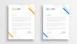 simple business letterhead design set of two
