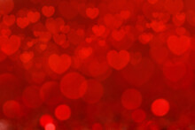 Red Background With Heart Shape. Valentine's Day Background