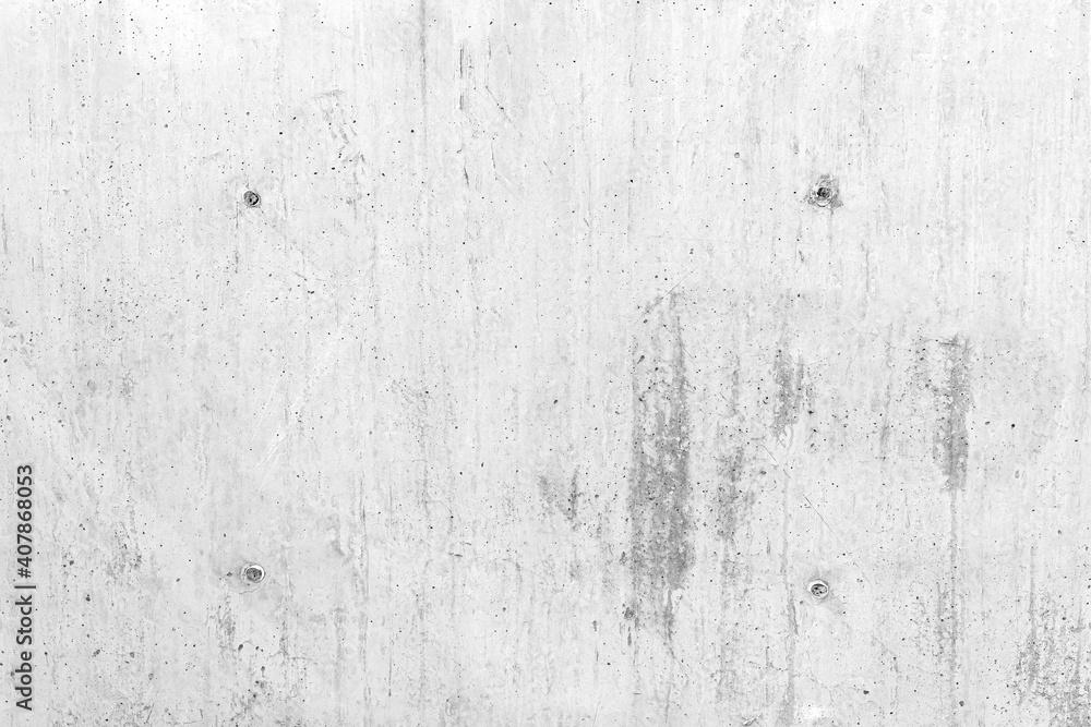 Fototapeta White concrete wall surface texture and seamless background