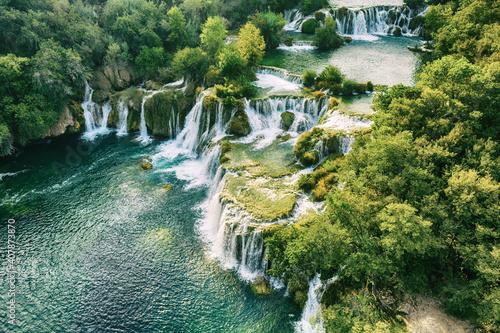 Obraz Waterfalls at Krka - fototapety do salonu