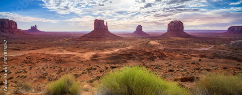 Fototapeta the scenic drive in the monument valley, usa