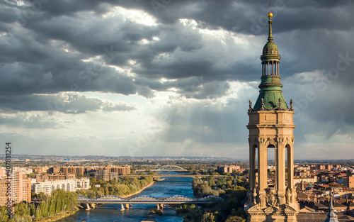 Photo Views from the Basilica del Pilar in Zaragoza