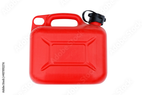 Tablou Canvas Red plastic canister for gasoline or other fuel