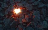 Fototapeta Natura - Glowing Heart with Broken Hearts