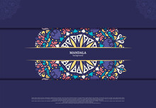 Mandala Background. Vintage Decorative Elements. Hand Drawn Background. Islam, Arabic, Indian, Ottoman Motifs.
