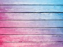 Vintage Background Wooden Colorfu Planks Board Texture.