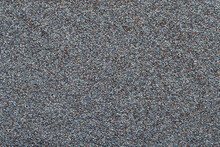 Full Frame Of Blue Poppy Seeds Close Up