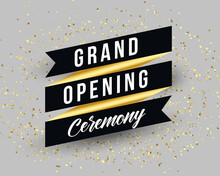 Grand Opening Ceremony Invitation Banner Template Design