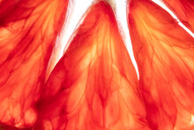 Macro Of The Center Of A Blood Orange