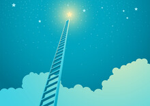 Ladder Leading To Bright Star