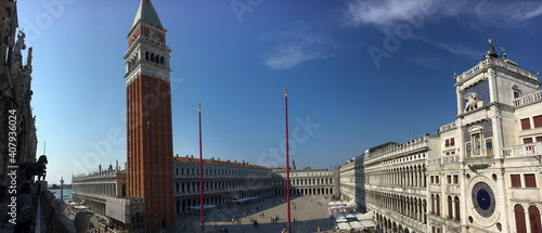 Papel de parede San Marco square with Campanile and Saint Mark's Basilica in Venice, Italy