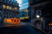 Glowing London Taxi Light