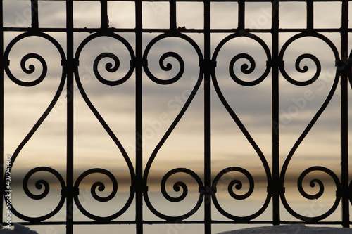 Photo wrought iron grating