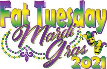 Fat Tuesday Mardi Gras 2021 Graphic