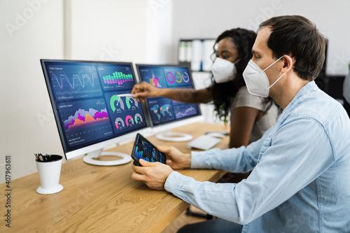 Obraz Predictive Business Data Analytics Meeting - fototapety do salonu