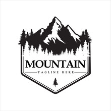 Logo Mountain Tour Adventure, , Vector Illustration