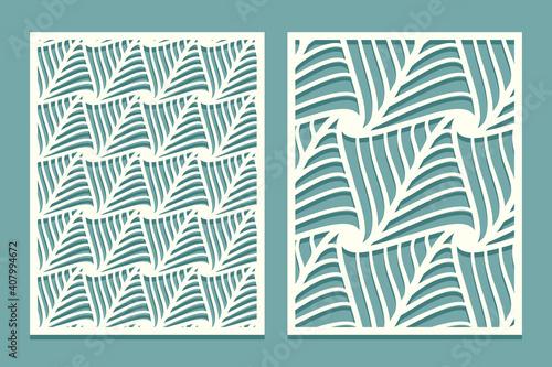Foto Set decorative rectangular card for cutting