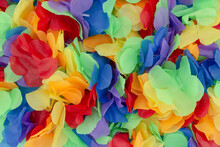 A Party Textil Wreath, Artificial Hawaiian Lei  Like,  Festival Wedding Background Celebrate Clorful Background
