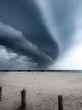 Storm Clouds Rolling Over Beach