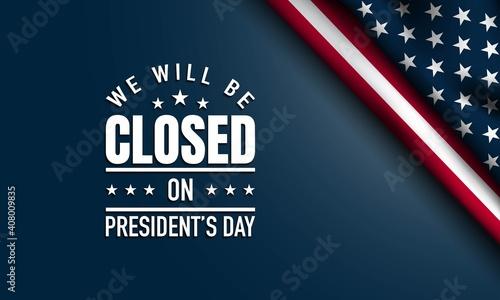President's Day Background Design Fototapeta