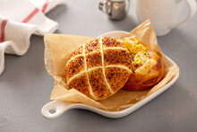 Mozzarella And Sweet Corn Savory Buns, Asian Style Bakery Treats