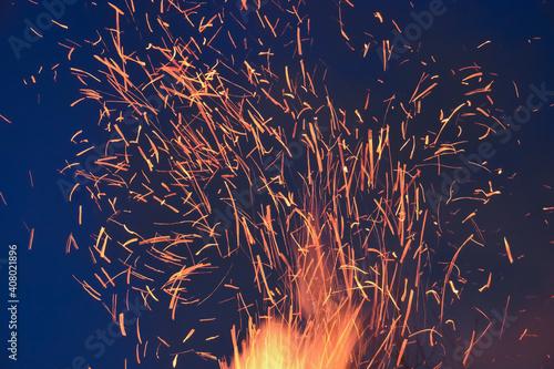 Obraz Orange Abstract Art Blaze Bonfire Style Background or Texture - fototapety do salonu