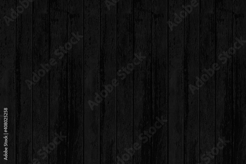 Fotografija Wood plank black timber texture and seamless background