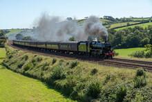 Black 5 Steam Train In Totnes  Devon UK