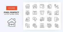 Remote Working Line Icons 256 X 256