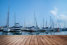 Background Of  Yacht Port