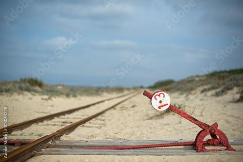 Fotografering Linha de comboio