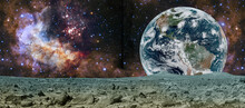 Planet Earth In Outer Space. Elements Of This Image Furnished By NASA.