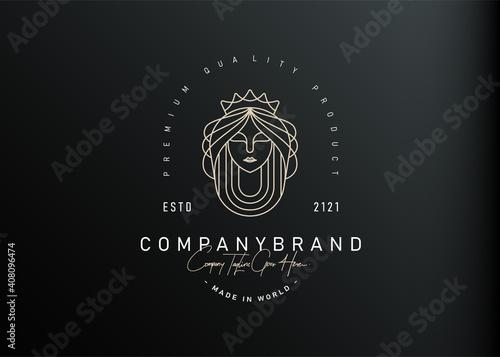 Beautiful Queen Logo Design Inspiration Fototapeta