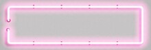 Vector Realistic Isolated Neon Sign Of Pink Rectangle Frame For Template And Layout On The White Background.