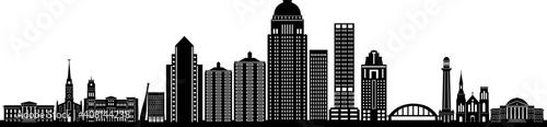 LOUISVILLE Kentucky SKYLINE City Silhouette  - fototapety na wymiar