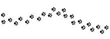 Dog Footprint Icon Set. Pawprint. Vector On Isolated White Background. EPS 10