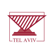 Tel Aviv City Stamp Vector Design