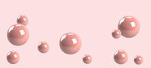 Pink Sphere Ball On Pink Background, 3d Shape, 3d Illustration