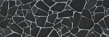 Black Gravel Texture Wallpaper. Vector Illustration Eps10
