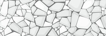 White Gravel Texture Wallpaper. Vector Illustration Eps10