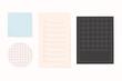 Office stationery notepaper vector set