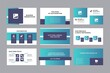 Modern Business Presentation, Pitch Deck, Investment idea presentation vector template