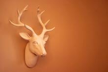 Reindeer Head Sculpture On Wall