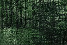 Dark Green And Olive Fluffy Background Of Soft, Fleecy Velvet Fabric.
