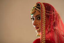 Indian Bride Looking Back
