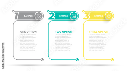 Fotografia Business infographic design number options template